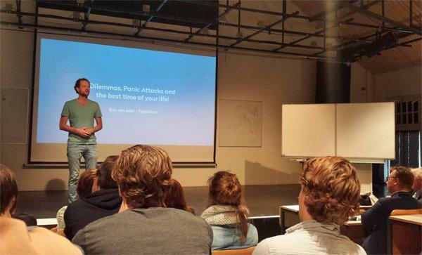 lecture by social entrepreneur Bas van Abel