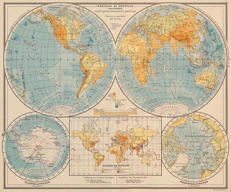 Bosatlas 140 jaar wereldkaart
