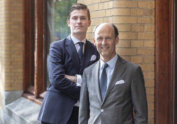dr. René Kuijten, MBA, honorair senator USC (1986-1987) en Boris Albrecht, honorair senator USC (2018-2019)