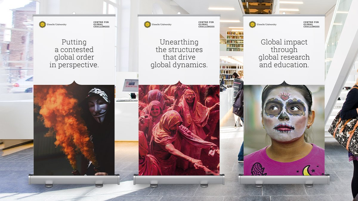 Centre for Global Challenges roll-up banners