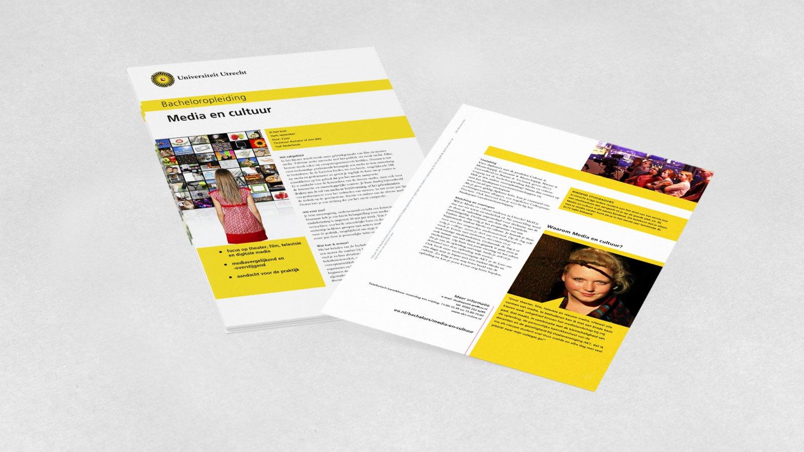 Opleidingsbrochure Media en Cultuur