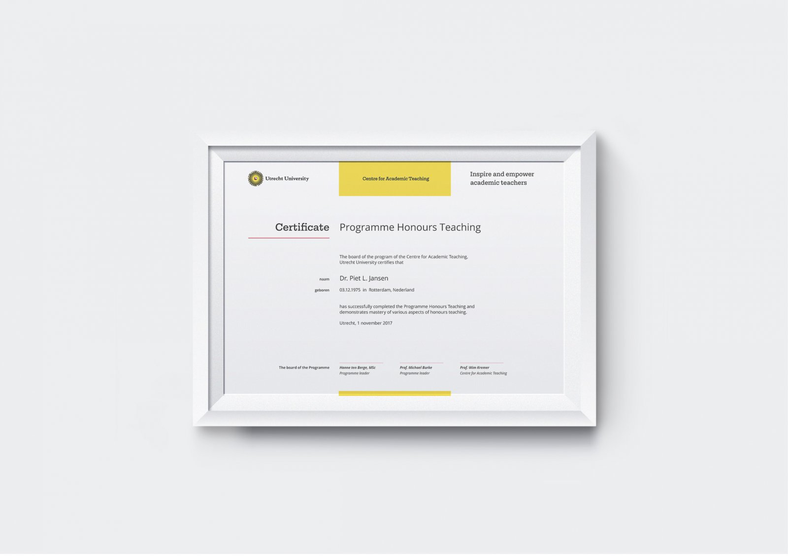 Centre for Academic Teaching, Certificate