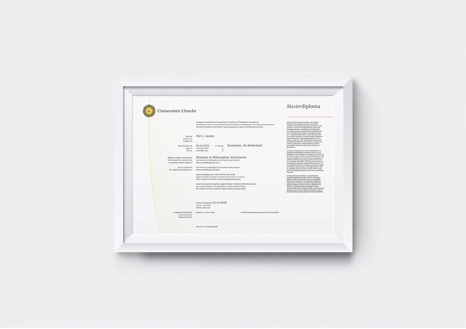 Voorbeeld Master diploma