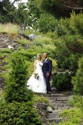 Bruidspaar op de Rotstuin