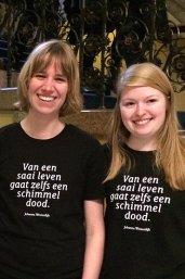 T-shirt met een citaat van Johanna Westerdijk