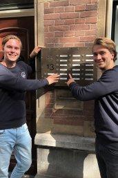 Studentondernemers Lars Molenaar en Cornelis den Hartog