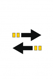 Icon with arrows