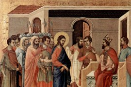 Duccio di Buoninsegna, Jesus at Herod's Court, c. 1310