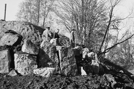Aanleg Rotstuin Fort Hoofddijk ca. 1963