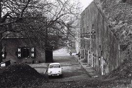 Beeld hoofdremise fort Hoofddijk uit 1963
