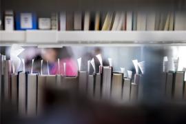 Boeken in de universiteitsbibliotheek binnenstad