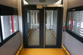 (automatic) doors of the passage to the Buys Ballot building