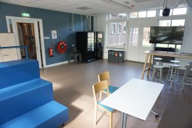 The common room of Descartes Hall