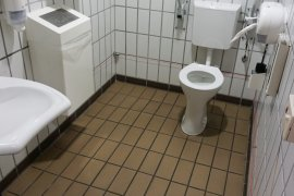 The accessible toilet of Dining Hall