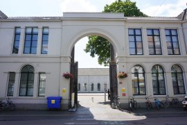 The entrance gate to Wittevrouwestraat 7bis and Drift 27 - University Library City Centre