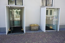 The alternative entrance (via Wittevrouwenstraat) of Drift 27 - University Library City Centre