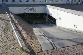 The bicycle parking lot at Drift 27 - University Library City Centre