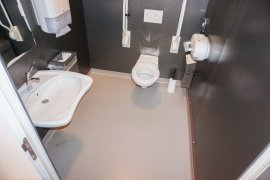 The accessible toilet on the first floor of Drift 27 - University Library City Centre