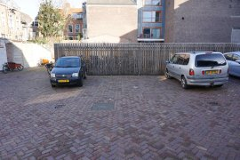 The disabled parking space behind Drift 6 (accessible via Boothstraat)