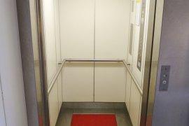 The elevator at Janskerkhof 13a