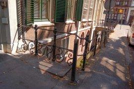 The sidewalk in front of Janskerkhof 13a