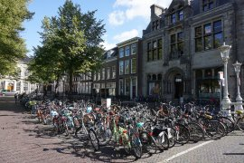 The bicycle parking at Janskerkhof