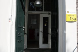 The main entrance doors of Janskerkhof 15