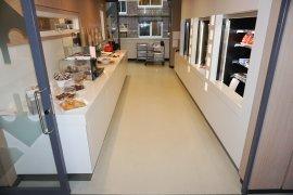 The desk in the lunchroom at Janskerkhof 2-3a