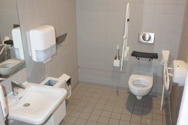 The accessible toilet at Janskerkhof 2-3a