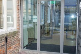 The door at the main entrance (from het Hoogt) at Janskerkhof 2-3a