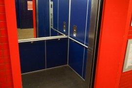 One of the elevators of the Hugo R Kruyt building