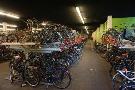 The bicycle cellar of behind the Minnaert building