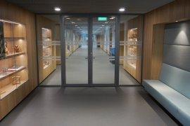 The corridor on the ground floor of the Minnaert Building