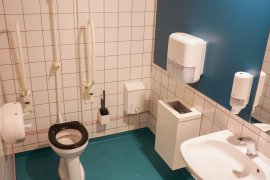 The accessible toilet at the Marinus Ruppert building