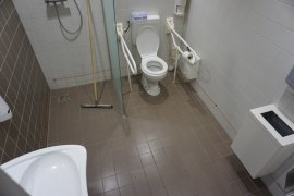 The accessible toilet of the Sjoerd Groenman building