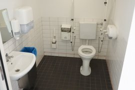The accessble toilet at the University Museum