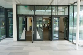The doors leading to the Venig Meinesz building A