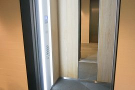 One of the elevators in the elevators in Venig Meinesz building A