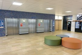 The elevators at WKZ