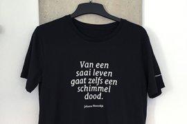 T-shirt met citaat van Johanna Westerdijk