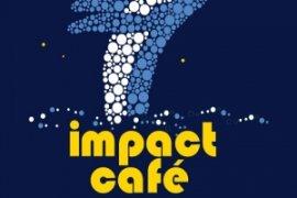 Impact Cafe logo met Skyscraper walvis