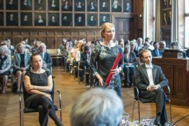 PhD defence in the Senate Hall of Utrecht University (photo by Ivar Pel)