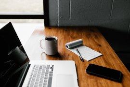 Blog, laptop, kladblok
