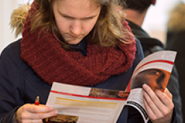 Bachelorvoorlichting 2016 in de binnenstad van Utrecht.