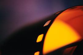 Abstracte foto van een filmrol van een film.