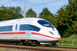Een internationale trein