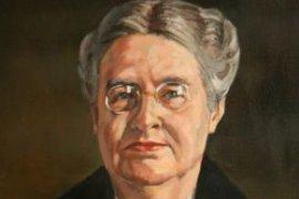 Portret van Johanna Westerdijk in toga