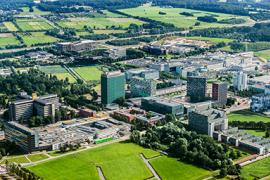 Luchtfoto van het Utrecht Science Park.