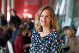 Dr. Manon Kluijtmans, Teaching Fellow, verbonden aan de Universiteit Utrecht. Foto van Kees Rutten.