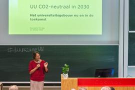 Marjan Oudeman vertelt over een CO2-neutrale Universiteit Utrecht.